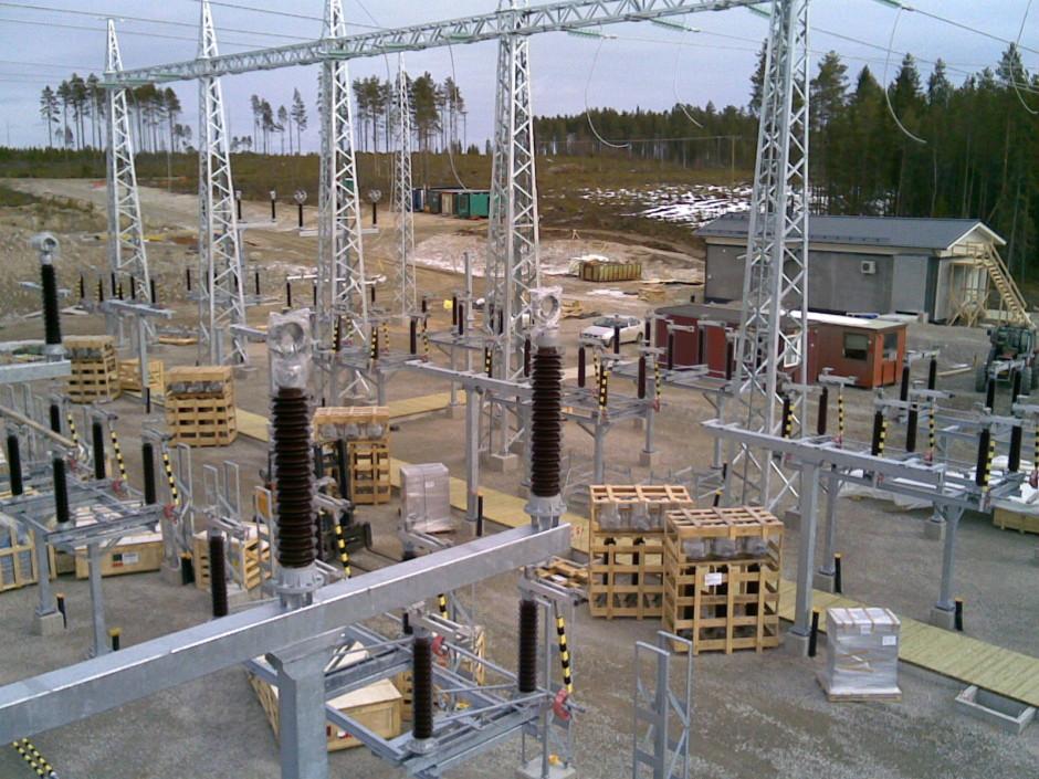Ontojoki 110kV kentän kalustaminen 2014